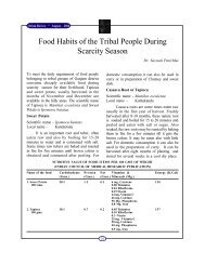 Food Habits of the Tribal People During Scarcity Season