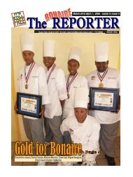 March 24 to April 7, 2006 - The Bonaire Reporter