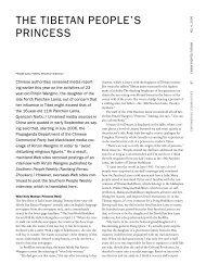 THE TIBETAN PEOPLE'S PRINCESS - Human Rights in China