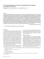 The Surgical Management of Colorectal Complications - ANNALS ...