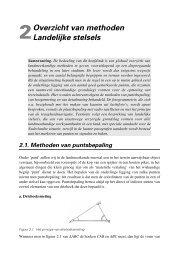 Overzicht van methoden Landelijke stelsels - Vssd