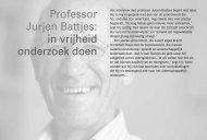 Professor Jurjen Battjes: in vrijheid onderzoek doen - Vssd