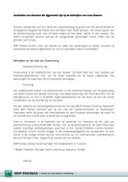 Aanbieden van diensten die afgestemd zijn op de ... - BNP Paribas