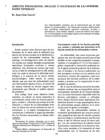 ASPECTOS PSICOLOGICOS, SOCIALES Y ... - PAHO/WHO