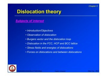 Dislocation theory