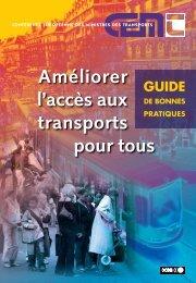 Améliorer l'accès aux transports pour tous GUIDE - International ...