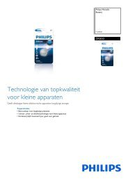 Leaflet CR2032_01B Released Netherlands (Dutch ... - Magnavox