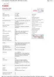 Page 1 of 3 Canon Nederland - PowerShot S60 - Binnenkort leverbaar ...