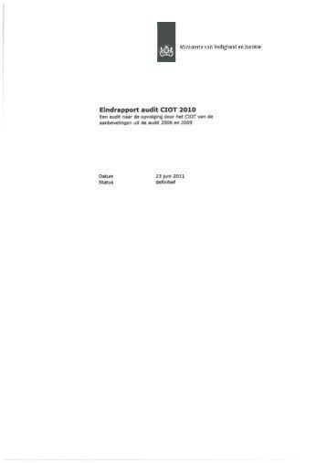 Eindrapport audit CIOT 2010