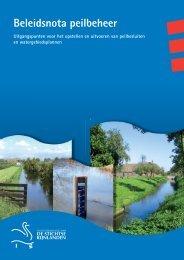 Beleidsnota peilbeheer (pdf 2144 Kb)