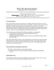 Real Estate Principles: REE 3043, Summer 2002 - School of ...