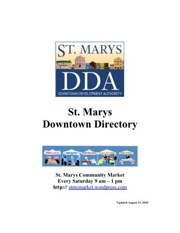St. Marys Downtown Directory