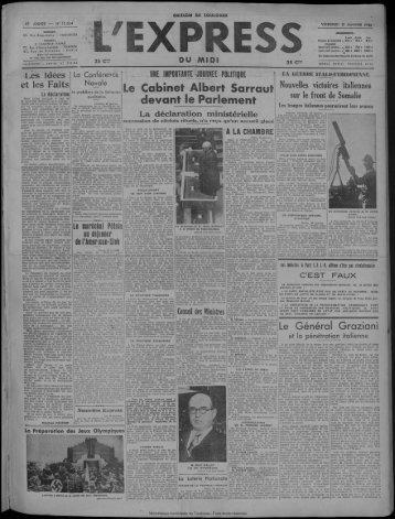31 janvier 1936 - Bibliothèque de Toulouse