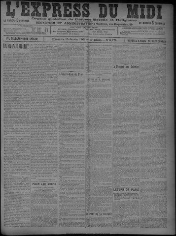 13 Janvier 1901 - Bibliothèque de Toulouse
