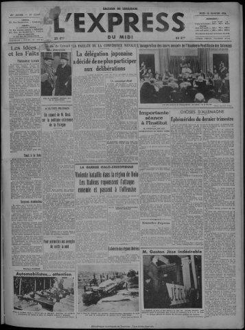 16 janvier 1936 - Bibliothèque de Toulouse
