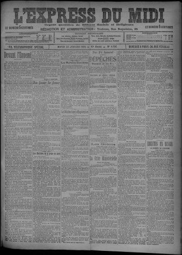 24 janvier 1905 - Bibliothèque de Toulouse