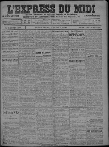 11 Juillet 1913 - Bibliothèque de Toulouse