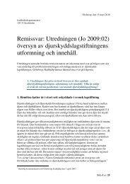 Remissvar: Utredningen (Jo 2009:02) översyn av ... - iFokus