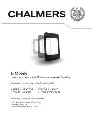 E-Mobile - Chalmers tekniska högskola