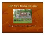 Holly State Recreation Area - State of Michigan