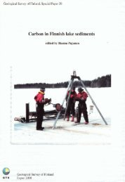 Carbon in Finnish lake sediments - Arkisto.gsf.fi - Geologian ...