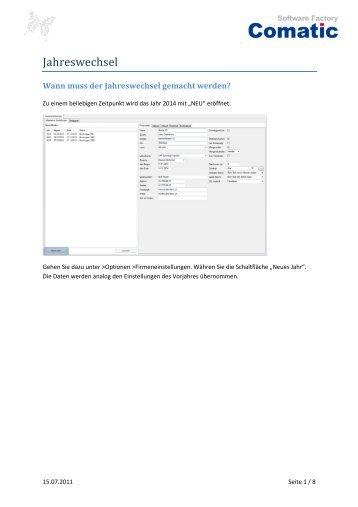 Jahreswechsel - andeer.net Software