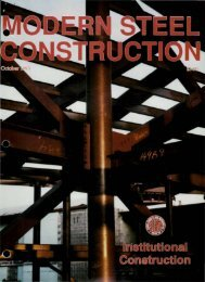 Click here to view the entire issue. - Modern Steel Construction