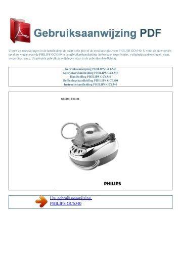 Gebruiksaanwijzing PHILIPS GC6340 - GEBRUIKSAANWIJZING PDF