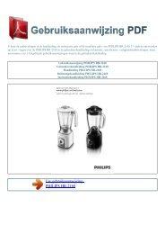 Gebruiksaanwijzing PHILIPS HR-2168 - GEBRUIKSAANWIJZING PDF
