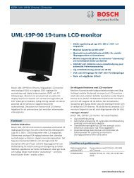 UML-19P-90 19-tums LCD-monitor - Bosch Security Systems