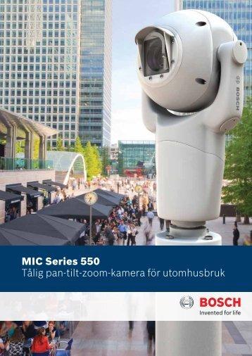MIC Series 550 Tålig pan-tilt-zoom-kamera för utomhusbruk