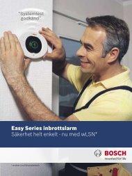 Easy Series inbrottslarm Säkerhet helt enkelt - nu med wLSN*