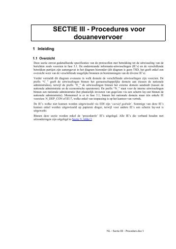 handleiding sectie III procedure - Fiscus.fgov.be