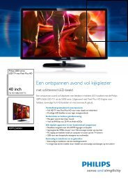 40PFL5606H/12 Philips LED-TV met Pixel Plus HD - Vanden Borre