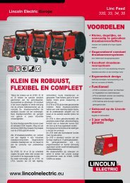 Klein en robuust, Flexibel en Compleet - Lincoln Electric