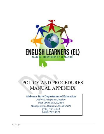 (EL) Policy and Procedures Manual 9-6-11 Appendix Revised ... - Alex