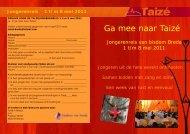 Jongerenreis 1 t/m 8 mei 2011 - Bisdom Breda