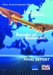 European Seminar on the Transfer of Businesses