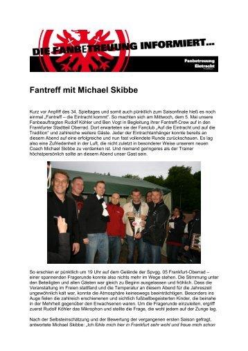 Fantreff mit Michael Skibbe - Eintracht Frankfurt
