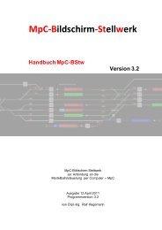 MpC-Bildschirm-Stellwerk
