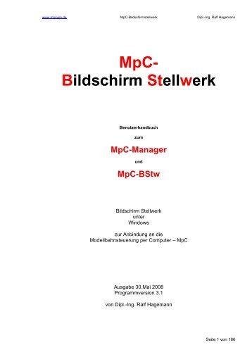 MpC- Bildschirm Stellwerk