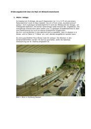 Erfahrungsbericht über die MpC mit Bildschirmstellwerk 1. Meine ...