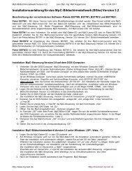 Installationsanleitung für das MpC-Bildschirmstellwerk (BStw)