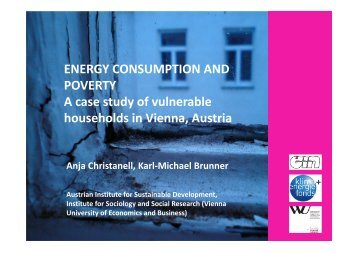 ENERGY CONSUMPTION AND POVERTY A case study of ...
