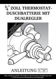duschbatterie mit dualregler - Hudson Reed