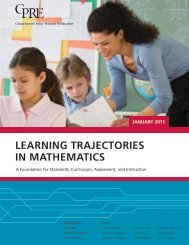 LearnInG TraJeCTOrIeS In MaTHeMaTICS - Consortium for Policy ...