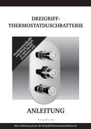 dreigriff- thermostatduschbatterie anleitung - Hudson Reed