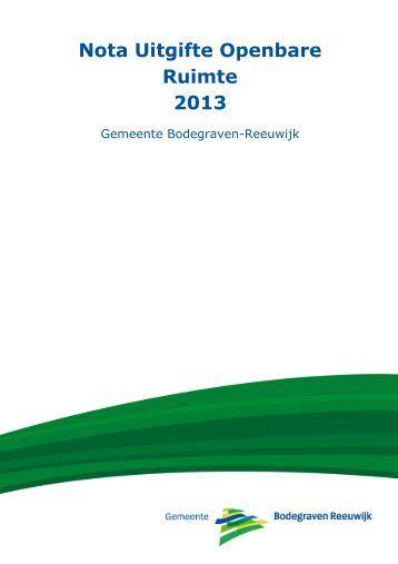 Nota Uitgifte Openbare Ruimte 2013