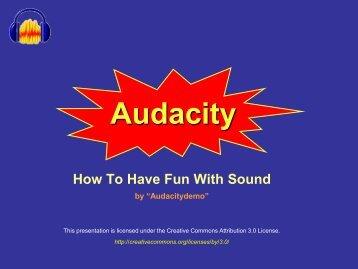 Audacity Tutorial - Alex