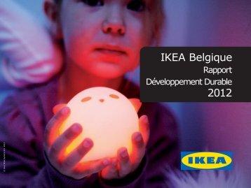 Rapport Développement durable 2012 IKEA Belgique (PDF)